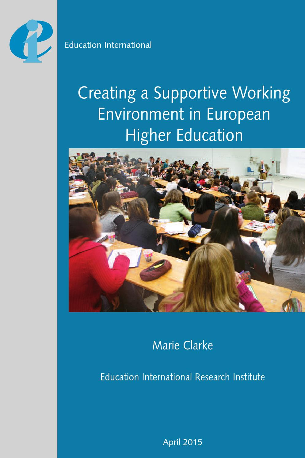 creating a supportive working environment in european higher creating a supportive working environment in european higher education by education international issuu