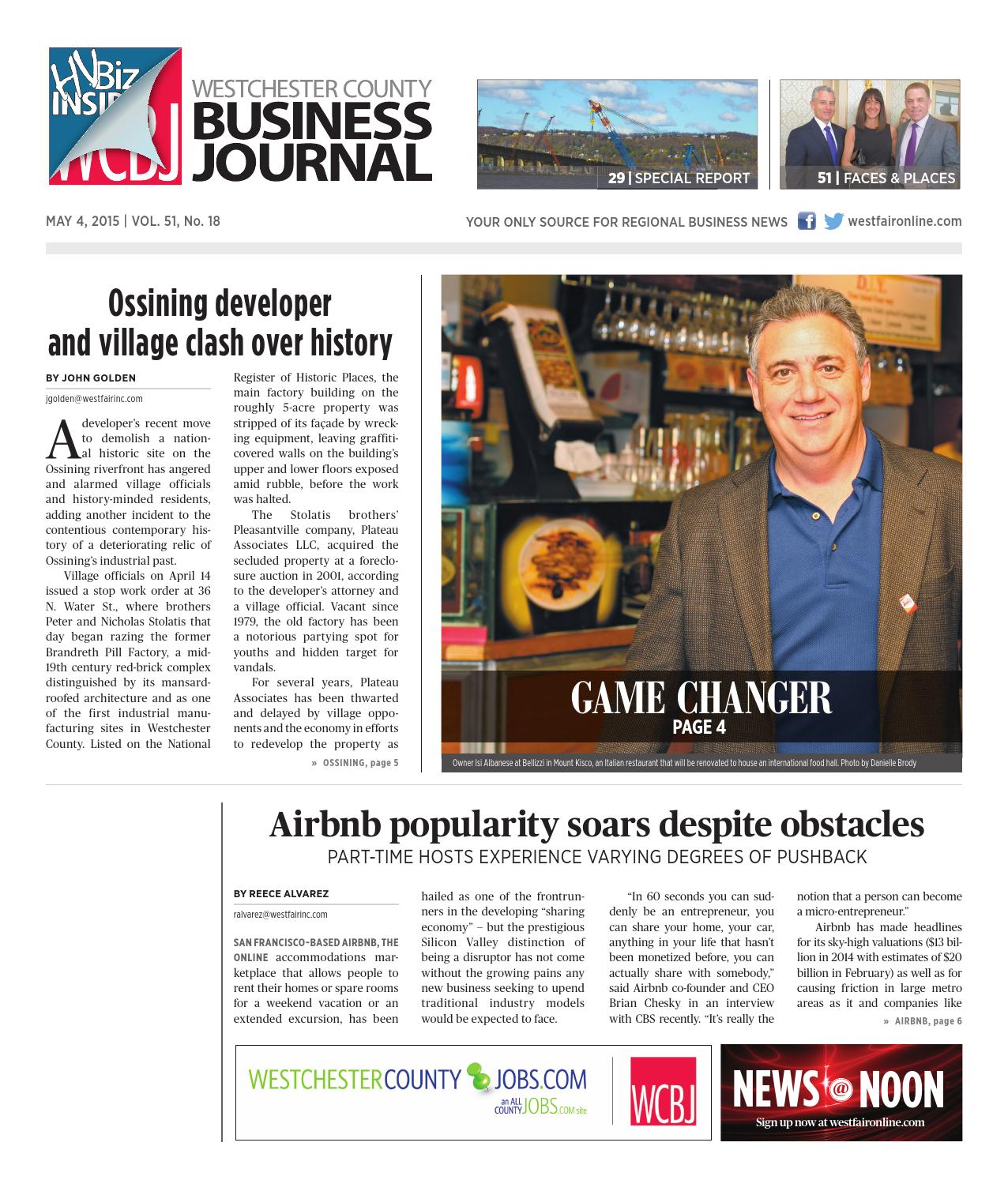 westchester county business journal by wag magazine issuu westchester county business journal 050415