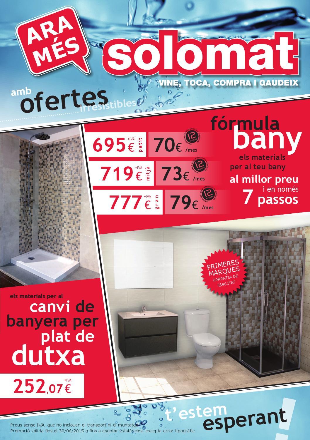 F rmula bany by solomat issuu for Plats de dutxa
