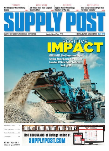 Supply Post Eastern Cover - May 2015