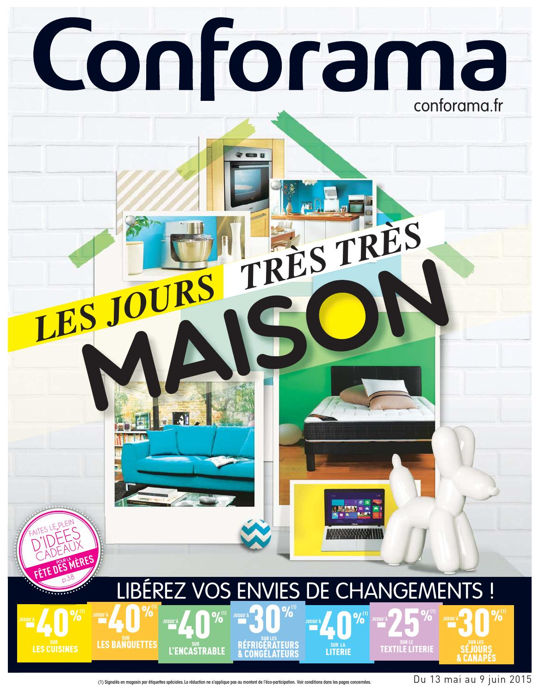 conforama catalogue 13mai 9juin2015 by page 1 issuu. Black Bedroom Furniture Sets. Home Design Ideas