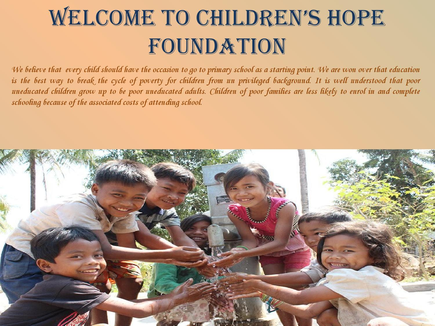 Caring For Our Children Foundation by Children's Hope ...
