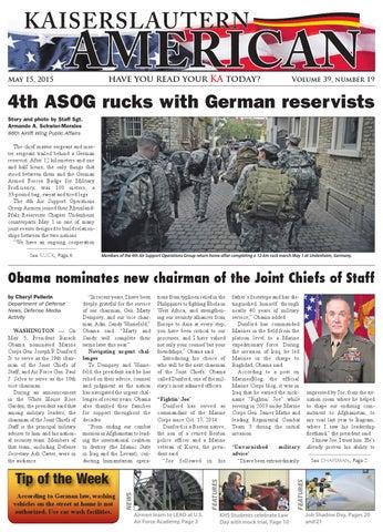 Kaiserslautern American, May 15, 2015