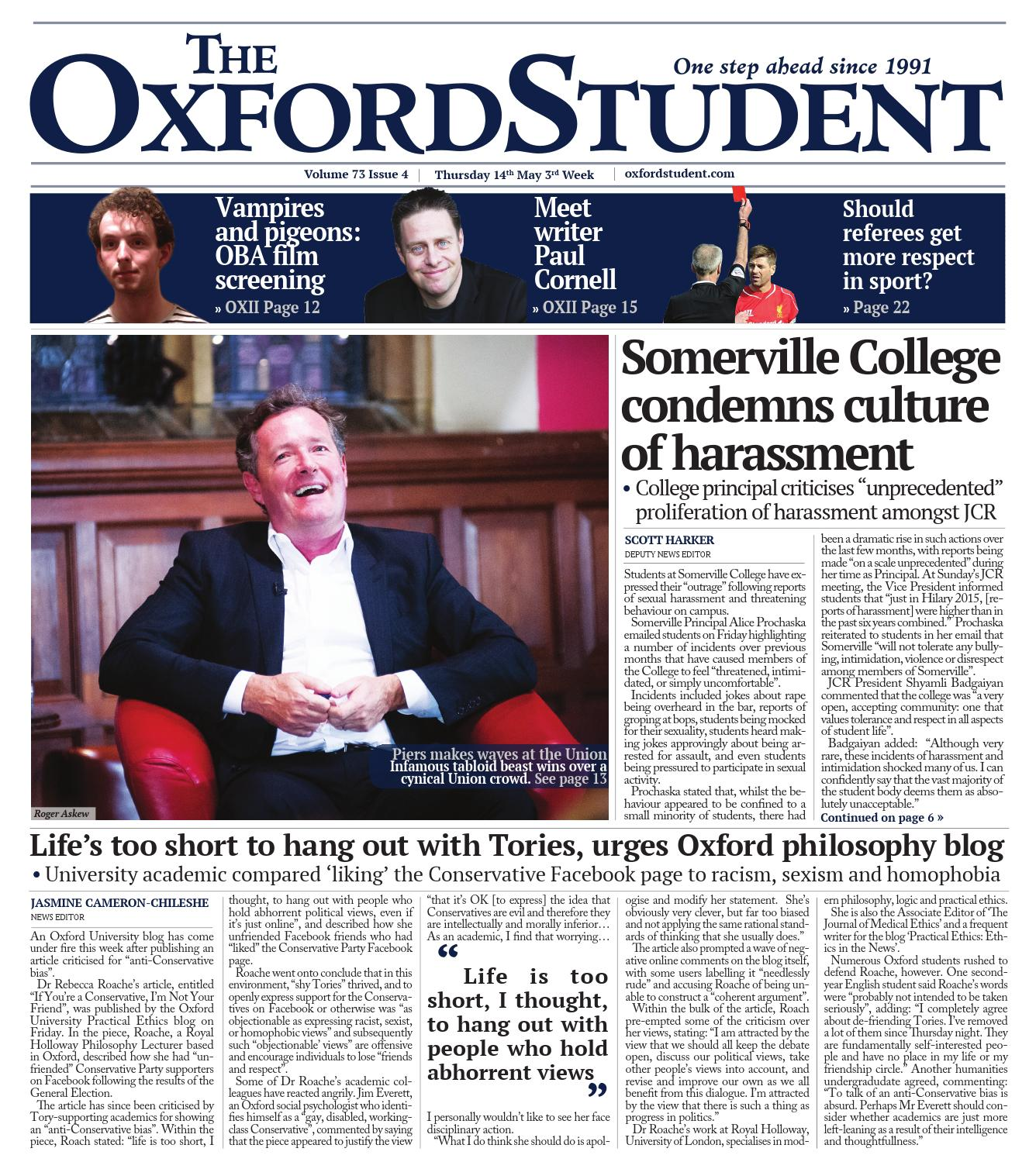 Issue 4 Trinity Term 2015 By The Oxford Student Issuu