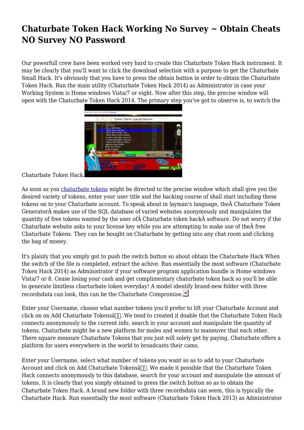 Chaturbate Token Hack Working No Survey ~ Obtain Cheats NO ...