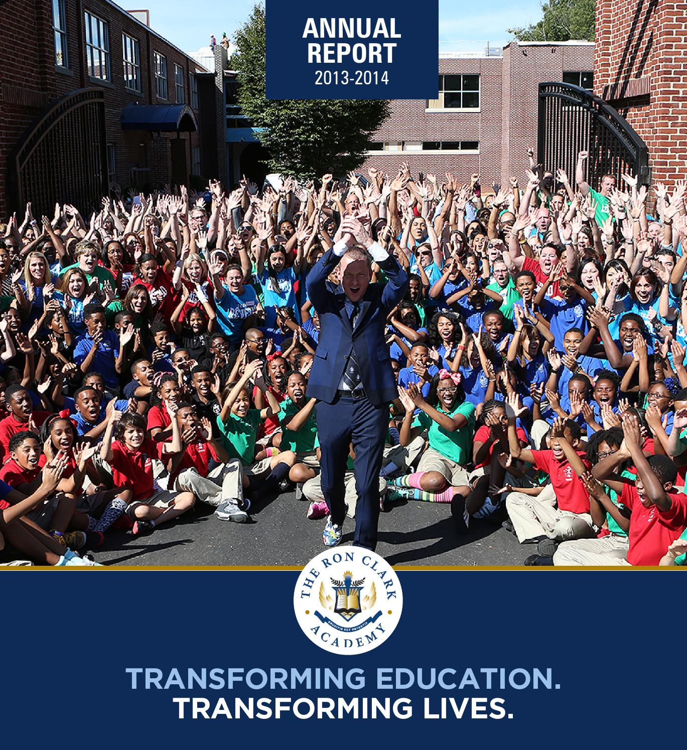 RCA Annual Report 2014 By The Ron Clark Academy (page 1