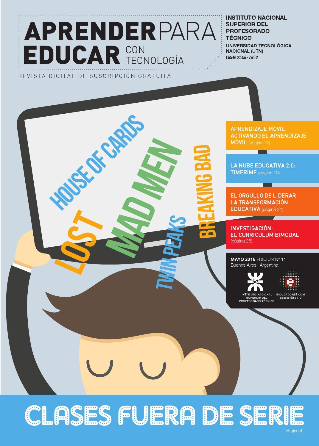 Revista aprender para educar con tecnolog a n mero 11 for Paginas de chimentos argentina