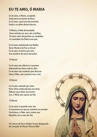 [Eu te amo, ó Maria!]