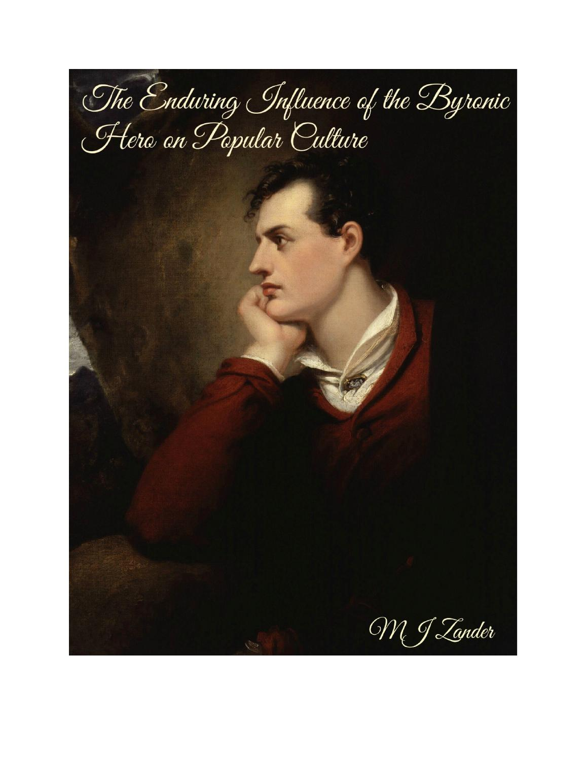 the enduring influence of the byronic hero by mjzander
