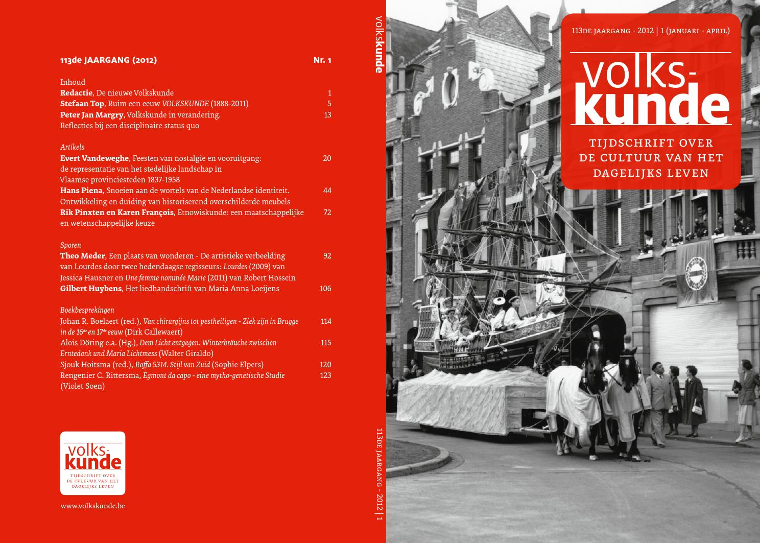Volkskunde 113   2012:1 by paul catteeuw   issuu