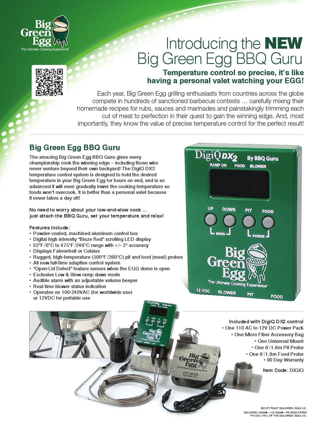 Bge Sellsheet Digiq By Big Green Egg Issuu