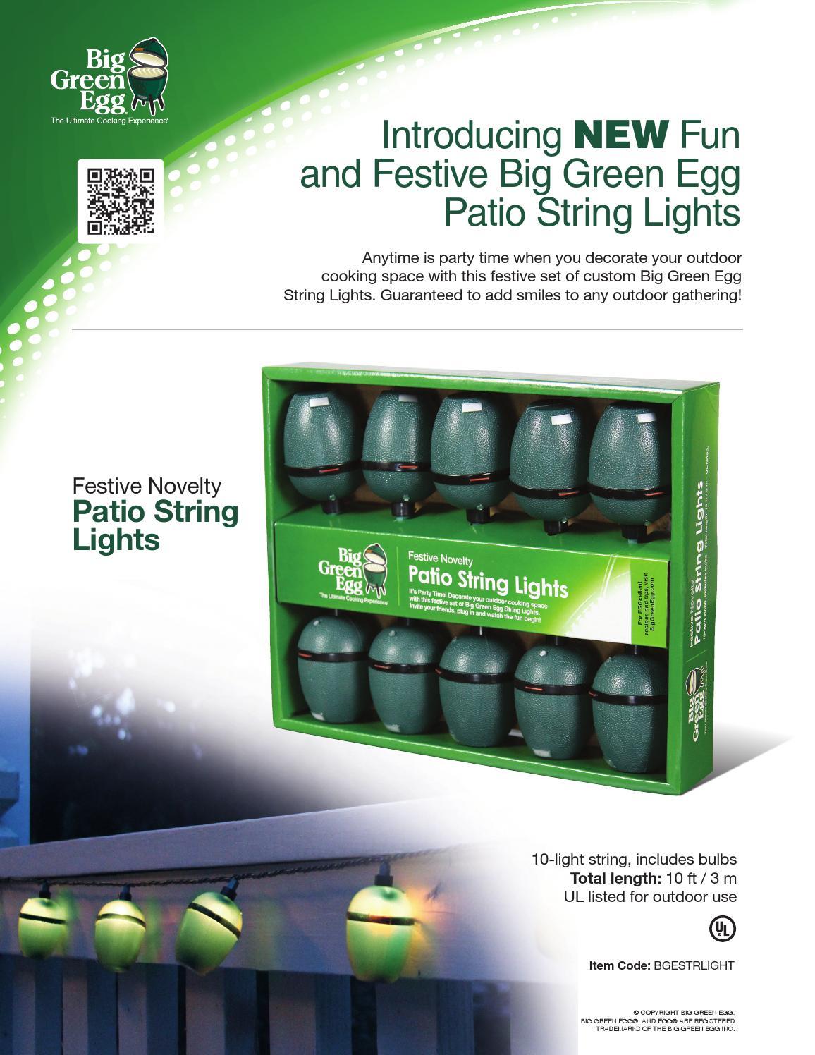 Bge sellsheet stringlights by Big Green Egg - issuu
