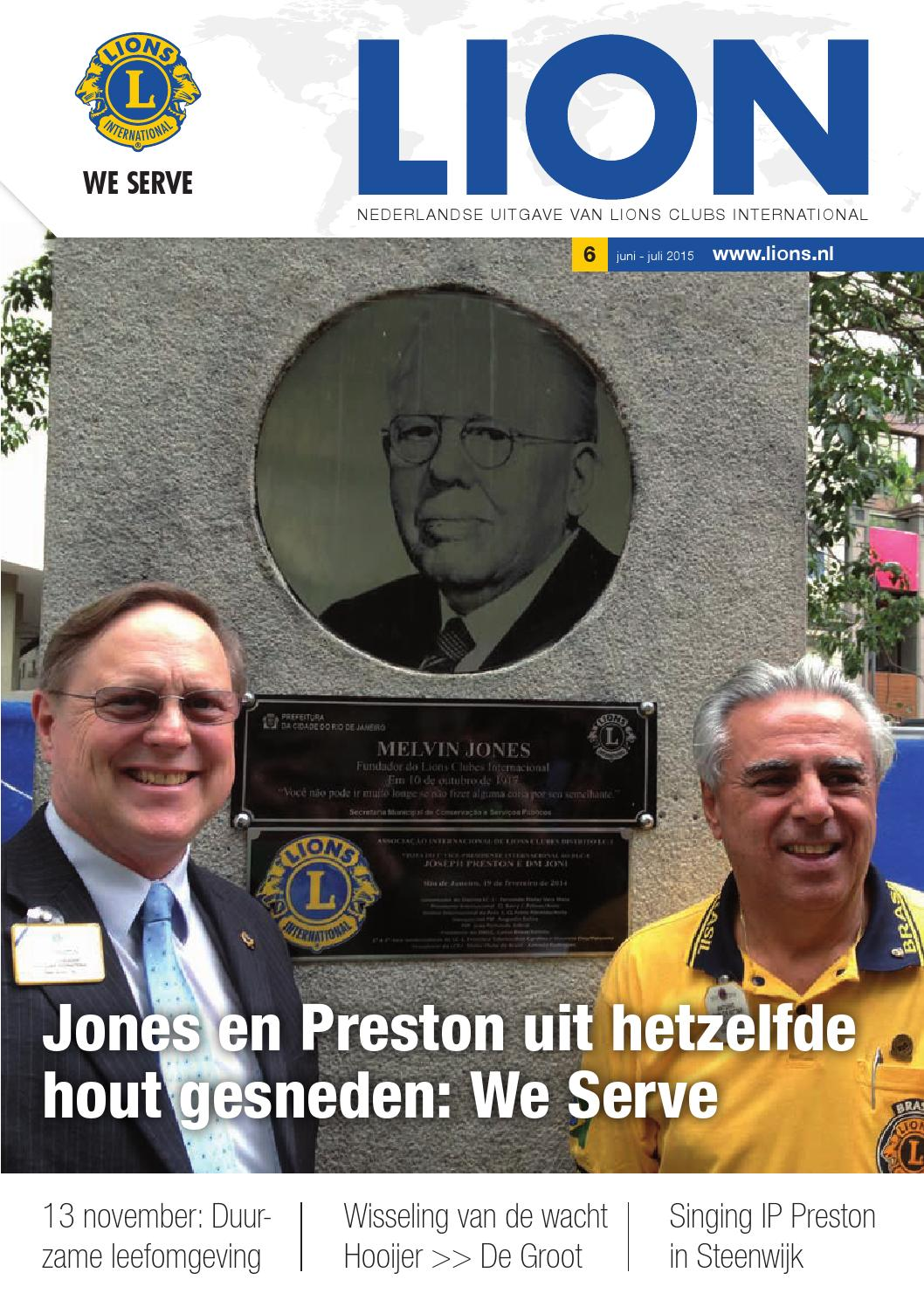 Lion magazine nr 52-05 april 2015 by Lions Clubs Nederland - issuu