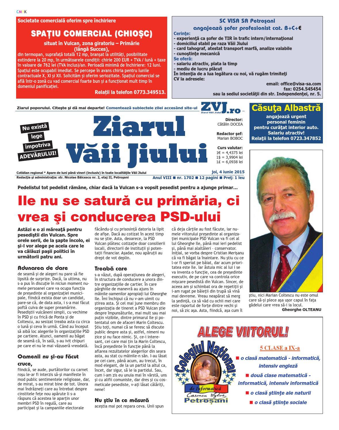 Ziarul vaii jiului