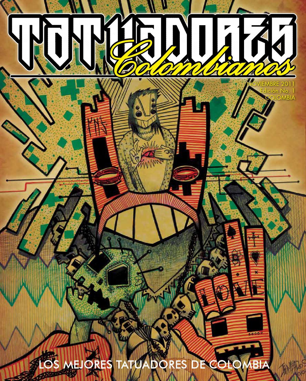 Revista tatuadores colombianos 1 by tatuadores for Los mejores tatuadores