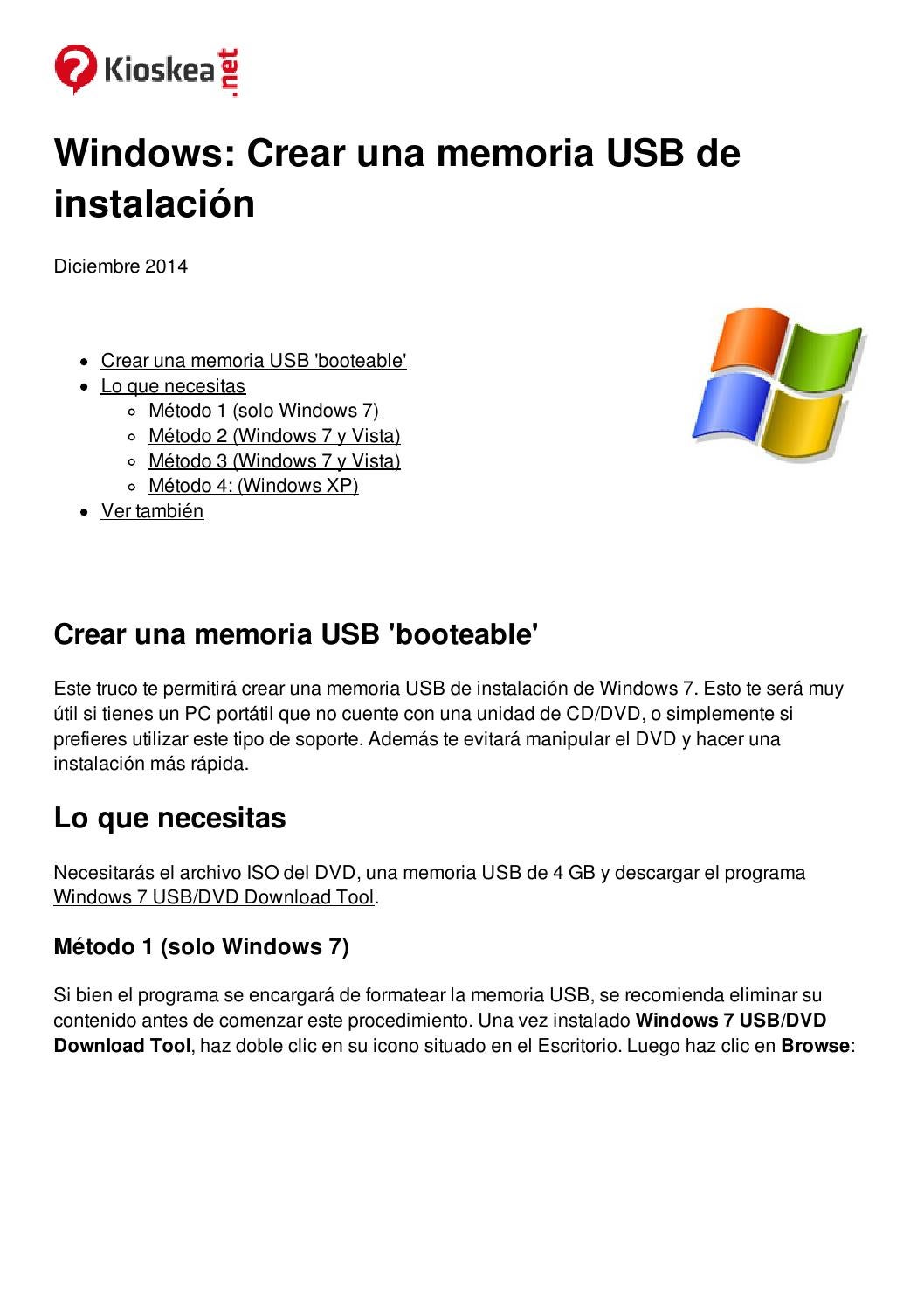 Os en una memoria USB