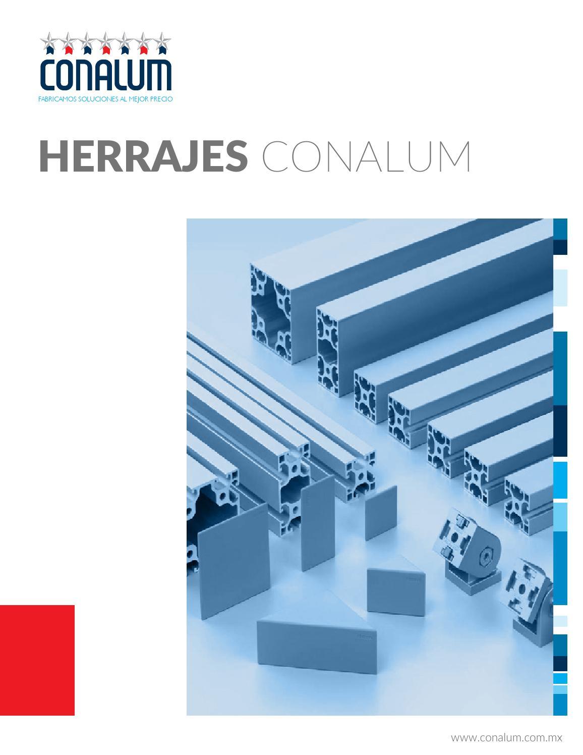 Cat logo herrajes by conalum issuu for Herrajes de aluminio para toldos