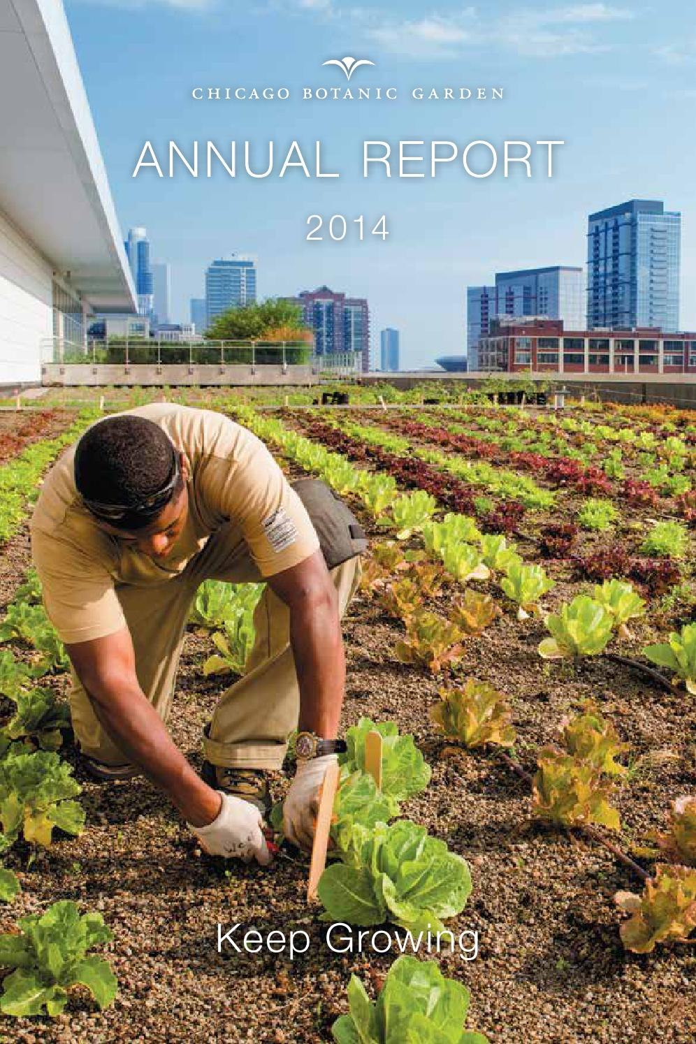 annual report by chicago botanic garden issuu annual report 2014