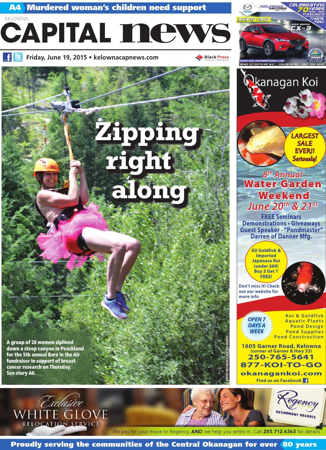 Kelowna capital news june 19 2015 by black press issuu for Koi pond kelowna