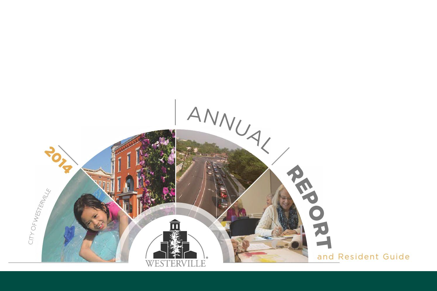 city of westerville annual report and resident guide by city city of westerville 2014 annual report and resident guide by city of westerville issuu