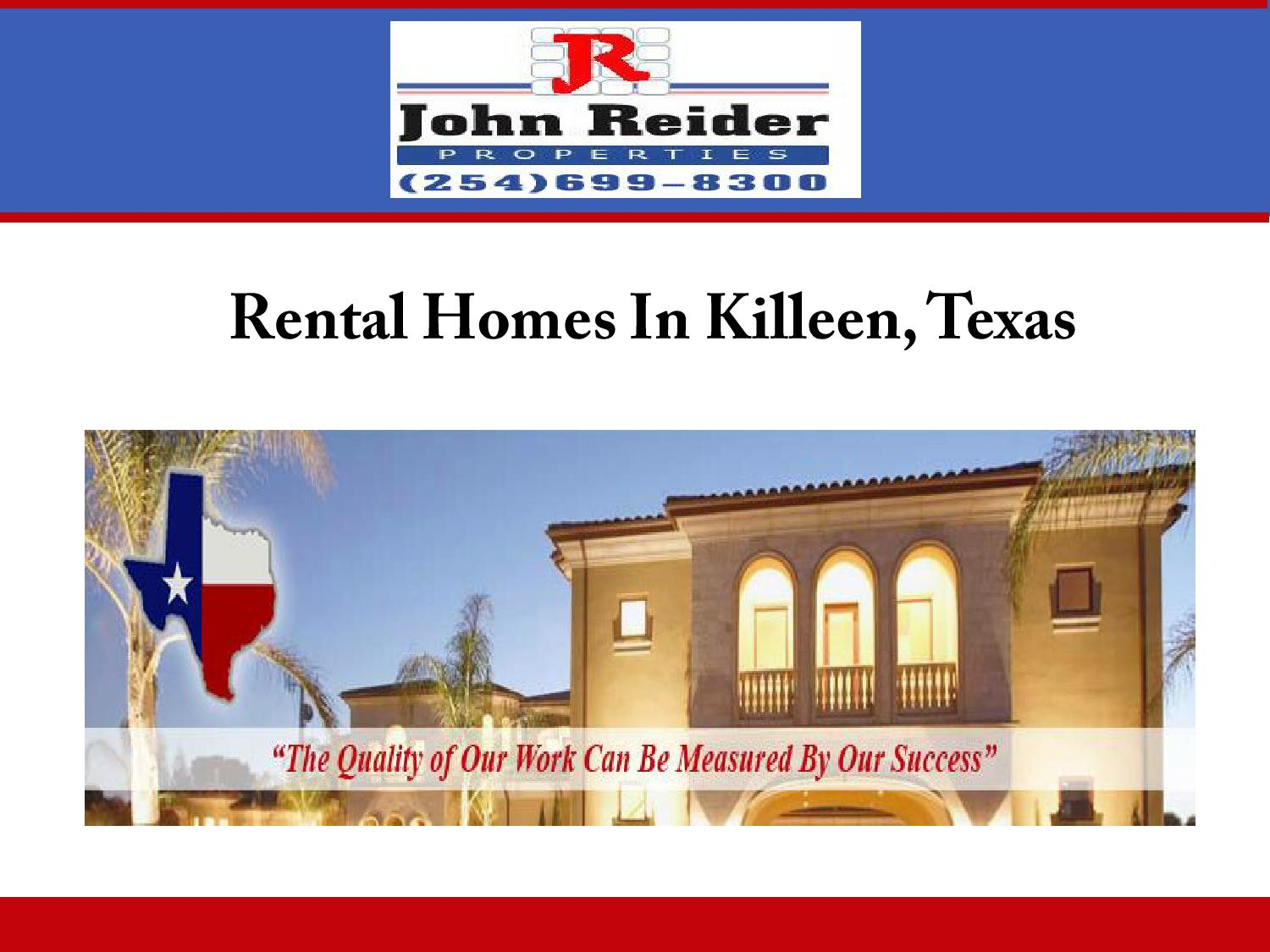 Rental homes in killeen texas by johnreider issuu for Home builders in killeen tx