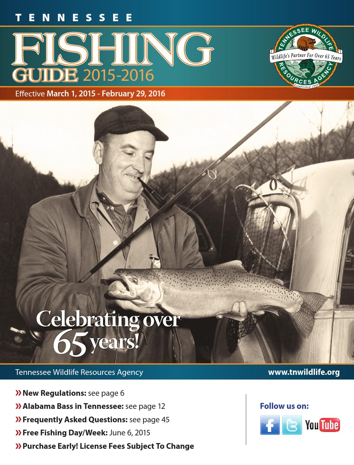 Tn fishing guide 2015 2016 by bingham group issuu for Tennessee fishing guide