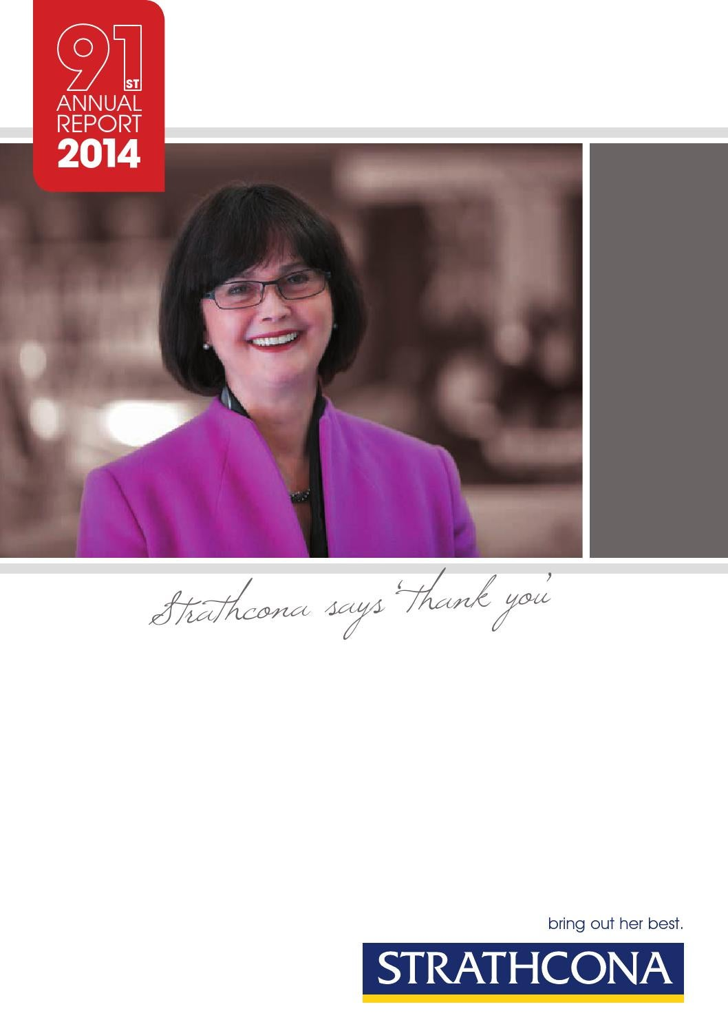 presenting fairholme highlights achievements by info design strathcona annual report 2014