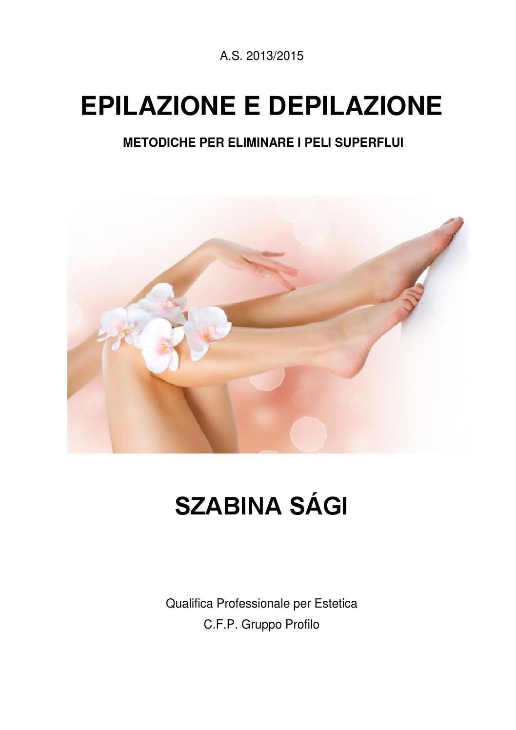 tesina depilazione epilazione