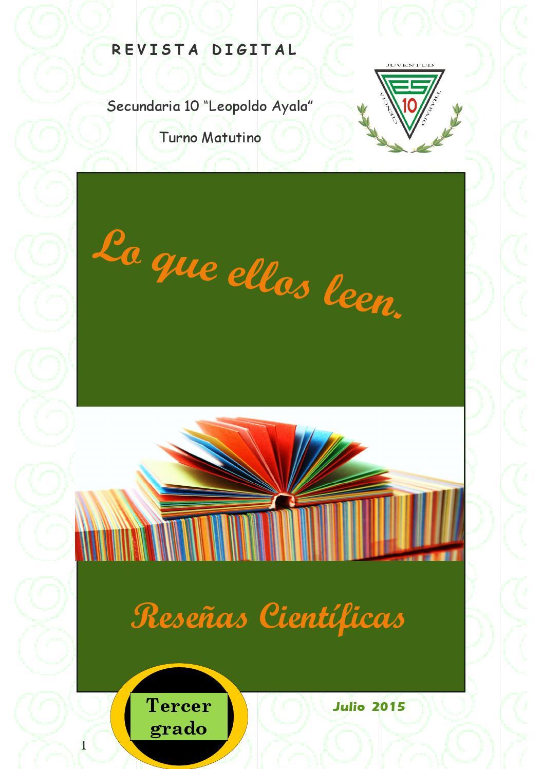 Lo que ellos leen by mario alberto espinosa corro issuu for Blanca lilia romero cenipalma
