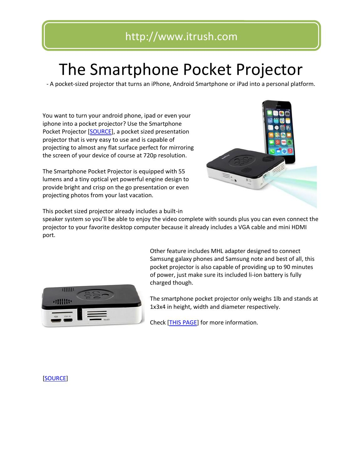 how to connect smartphone to projector