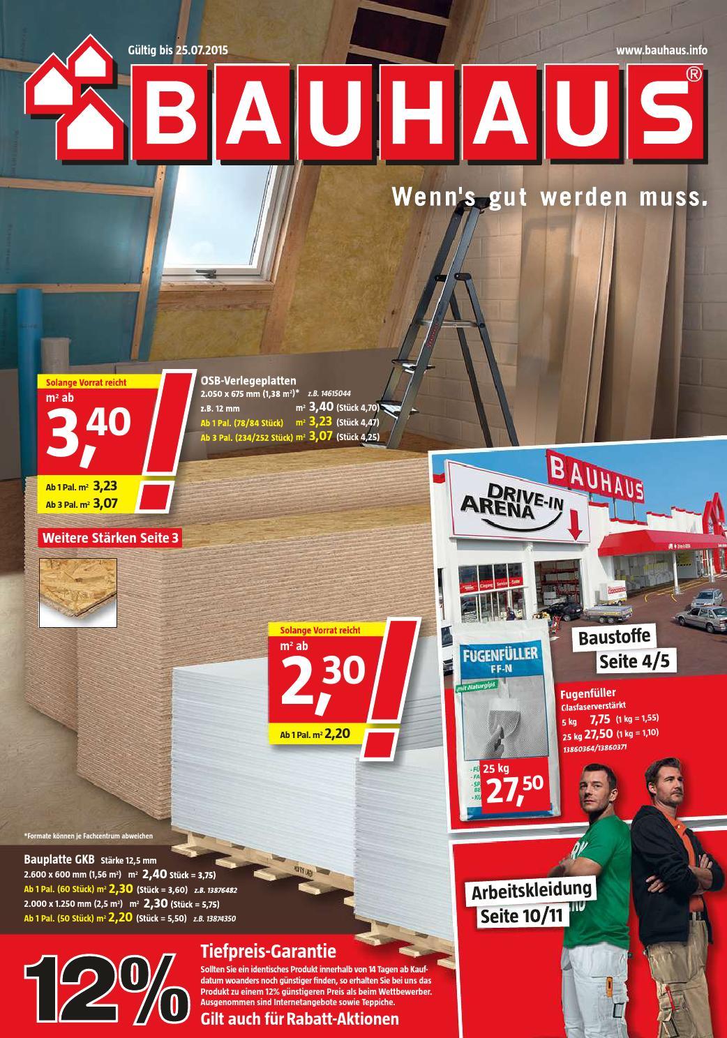 bauhaus angebote 29juni 25juli2015 by issuu. Black Bedroom Furniture Sets. Home Design Ideas
