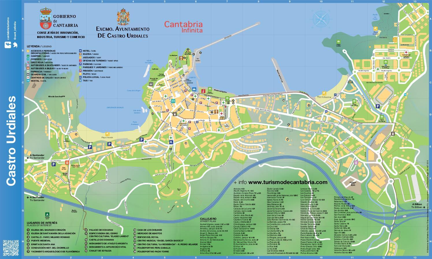 Mapa tur stico de castro urdiales by cantabria turismo issuu for Mapa santander sucursales
