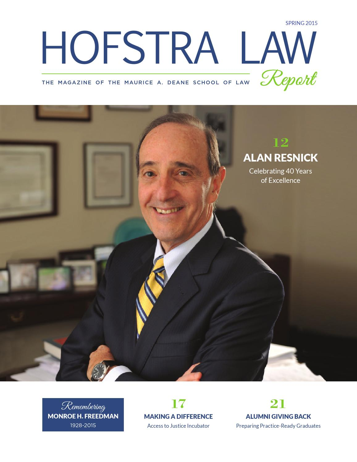 donor report by hofstra law school issuu hofstra law report spring 2015