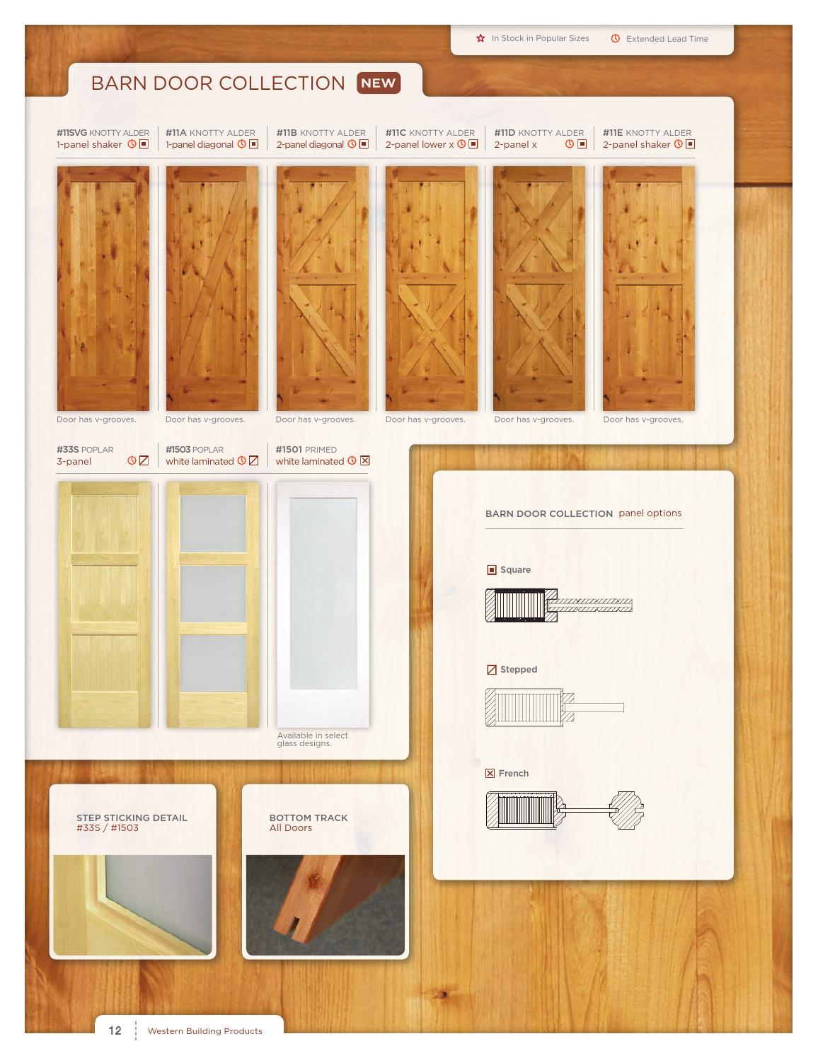 Western Interior Door Brochure By Western Building Products Page 12 Issuu