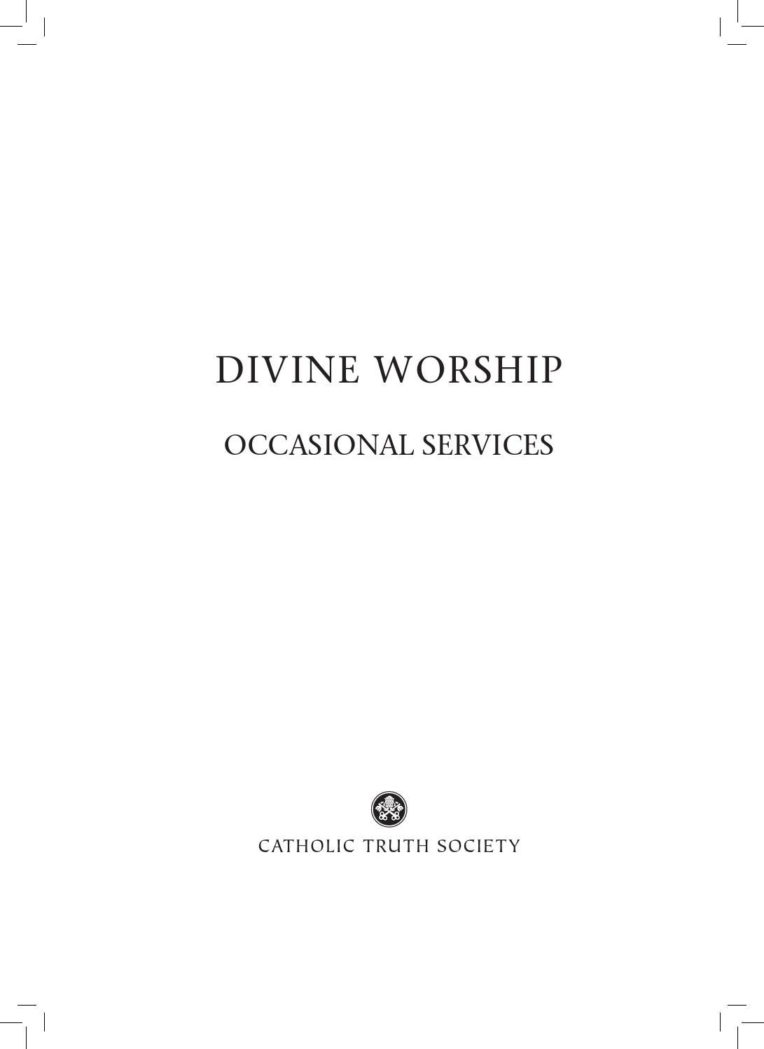 order of celebrating matrimony preview by catholic truth society divine worship occasional services sample