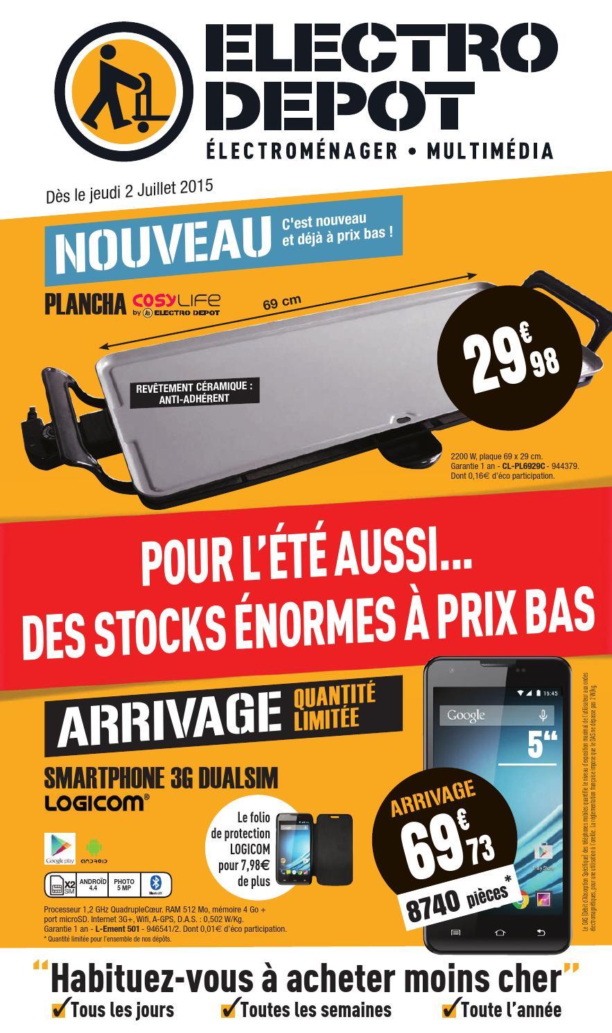 electrodepot catalogue 2 14juillet2015 by promocatalogues. Black Bedroom Furniture Sets. Home Design Ideas