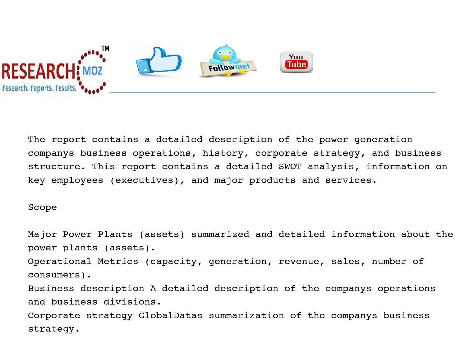 power plants and swot analysis of Verbund ag - power plants and swot analysis, 2017 update summary the report contains a detailed description of the power generation company's business operations, history, corporate strategy, and business structure.