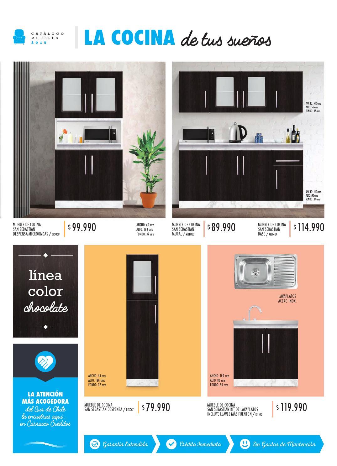 Catalogo muebles 2015 by carrasco creditos issuu for Muebles carrasco