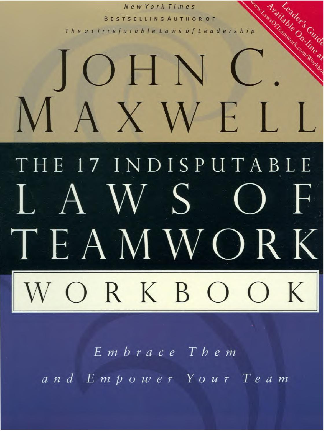 john maxwell laws of teamwork workbook by revati beyond softs john maxwell 17 laws of teamwork workbook by revati beyond softs issuu