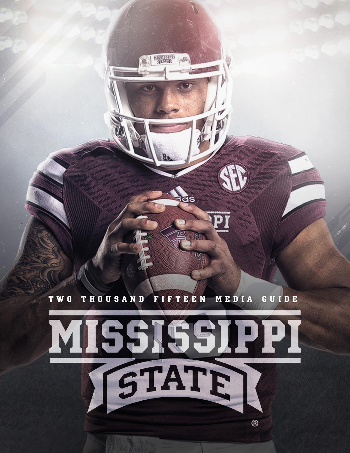 2015 mississippi state football media guide by mississippi
