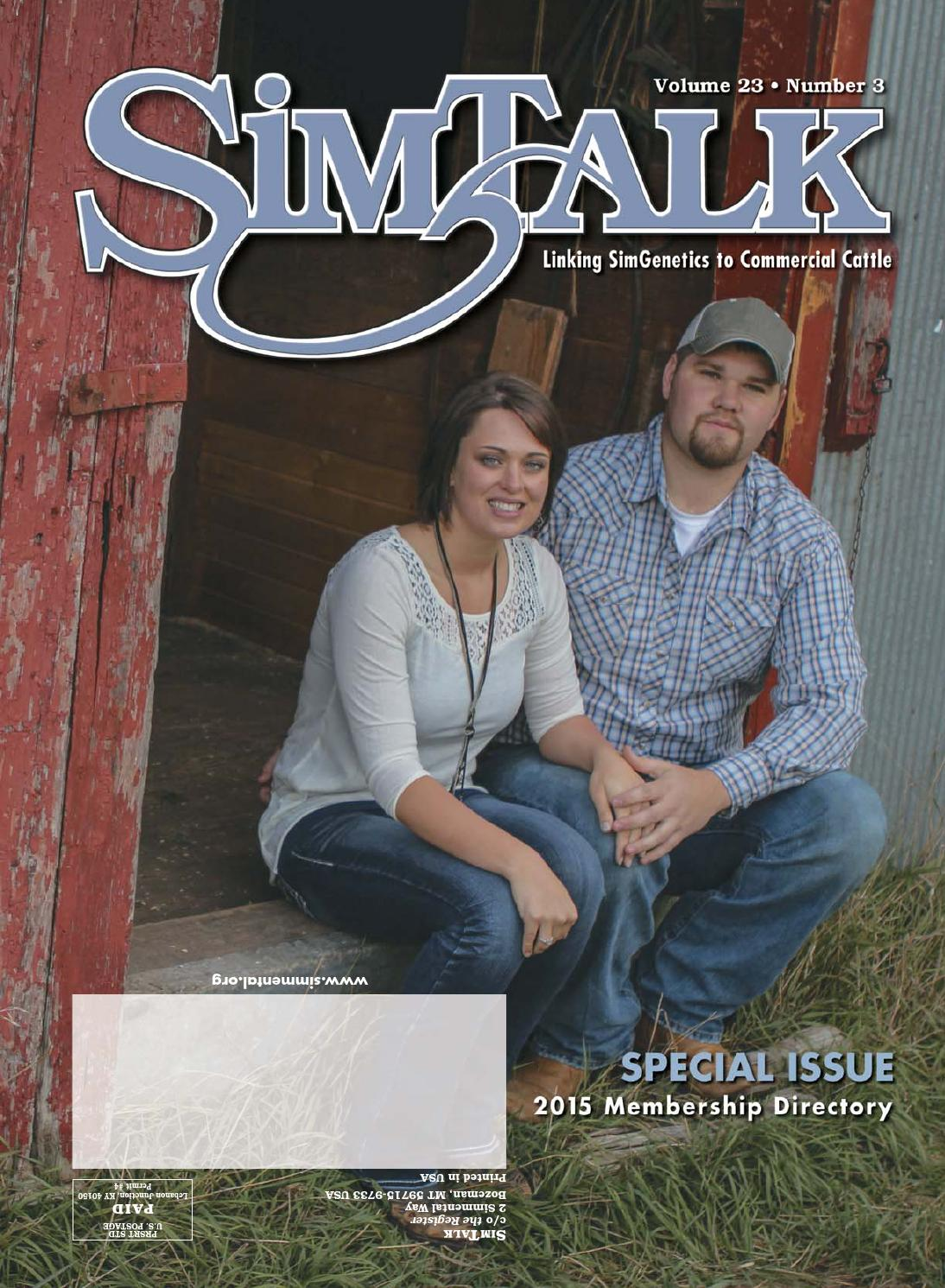 2015 membership directory by american simmental for Amy ruth s home style southern cuisine