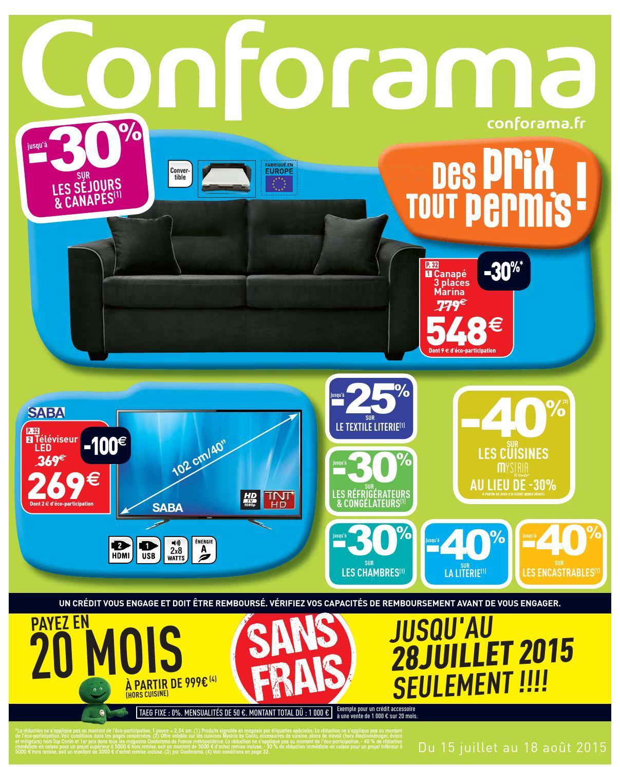 Conforama catalogue 15juillet 18aout2015 by - Conforama catalogue chambre ...