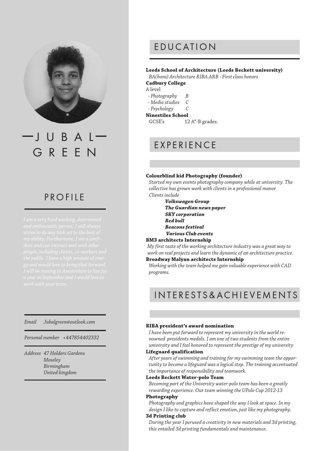 3rd year ba hons  architecture spaceport   cv by jubal
