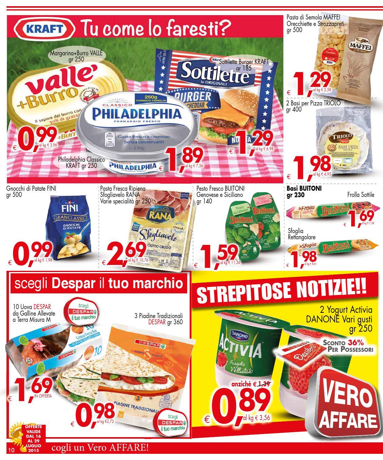 volantino despar 16 29 luglio 2015 by despar messina issuu