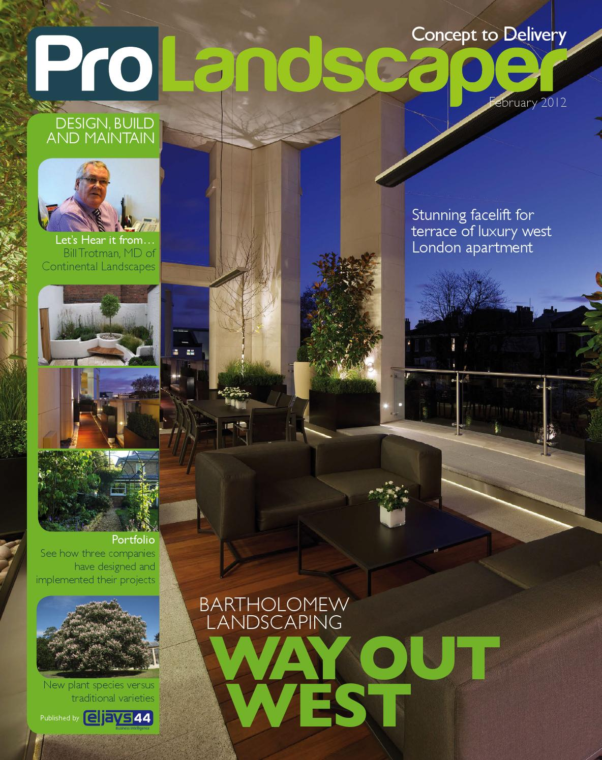 Pro Landscaper February 2012 By Eljays44 Issuu