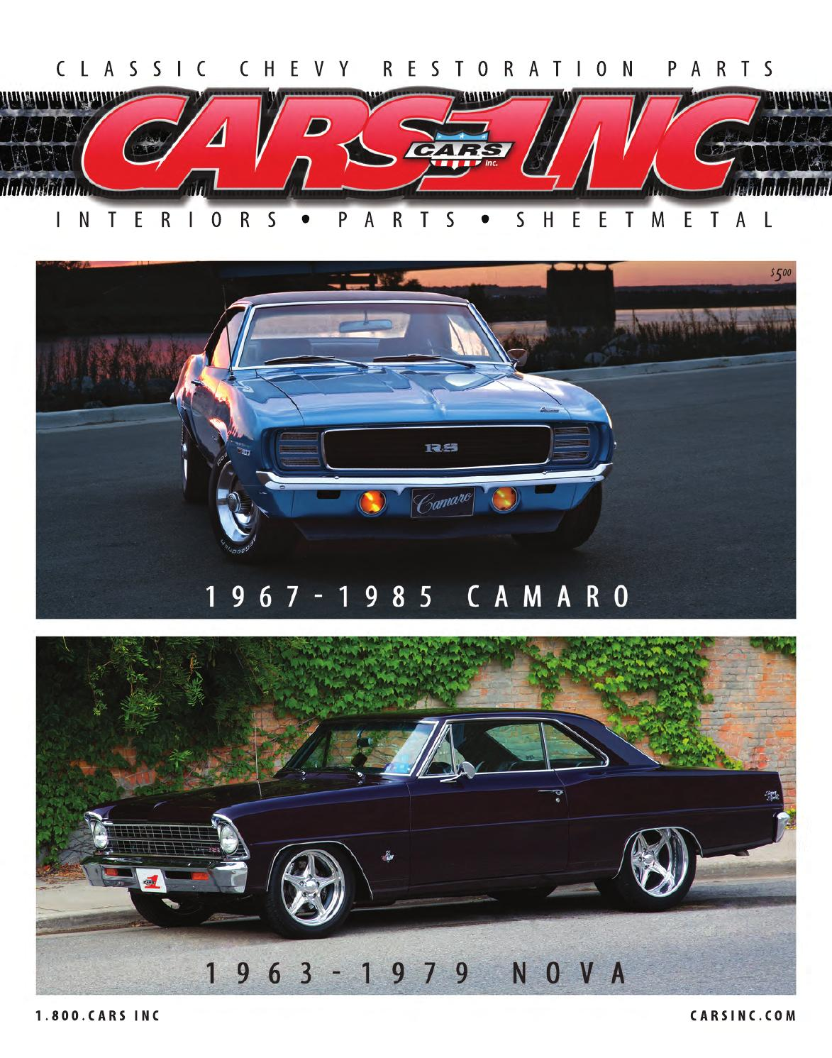 Cars Inc 1967 1985 Camaro And 1963 1979 Nova Catalog V15