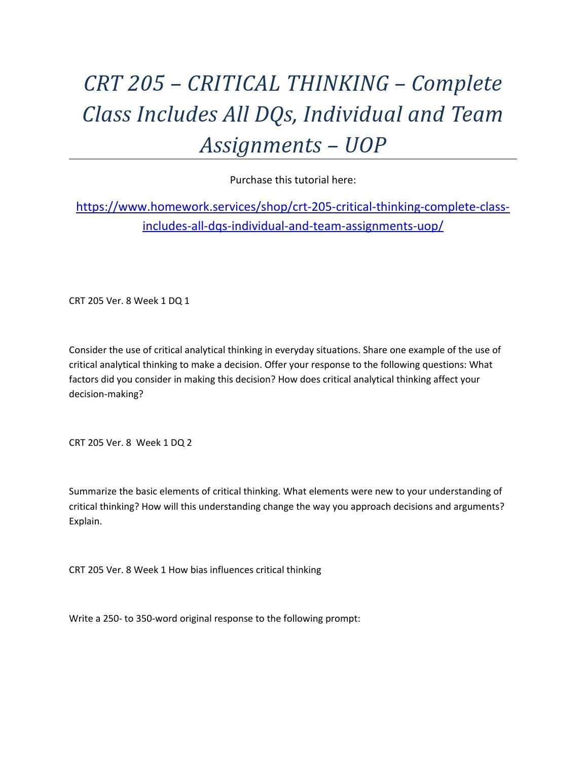 crt205 mapping an argument Check out our top free essays on rhetorical analysis on a  uop crt 205 week 9 final project comprehensive argument analysis  crt 205 full class version 8 .
