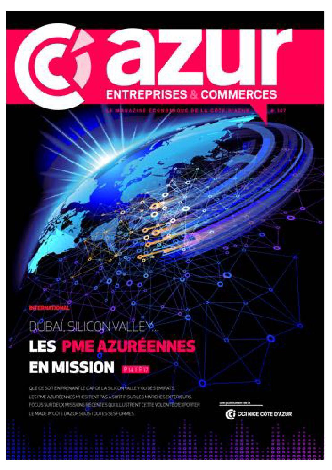 Azur entreprises 107 by cci nice c te d 39 azur issuu - Chambre de commerce et d industrie nice cote d azur ...