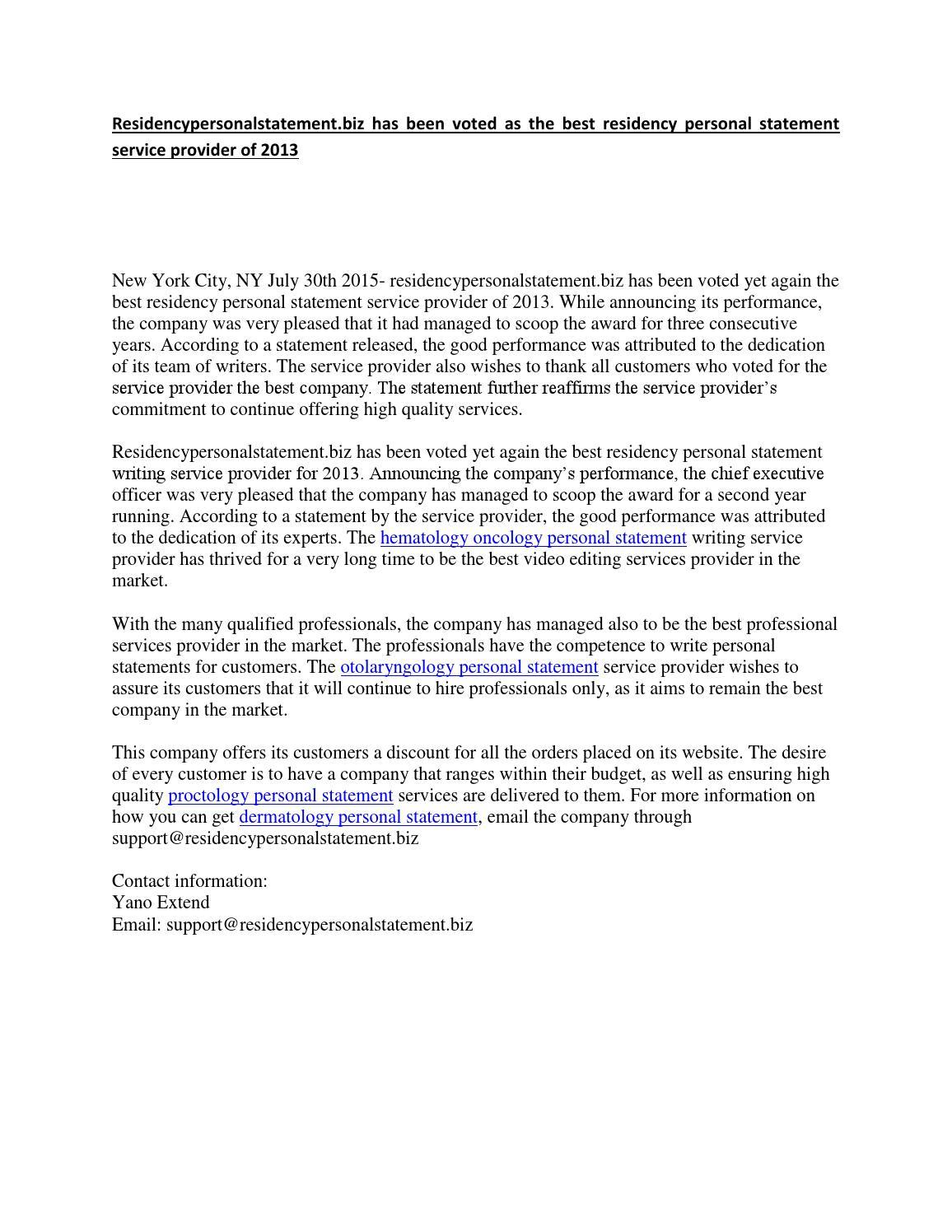 essayedge residency personal statement