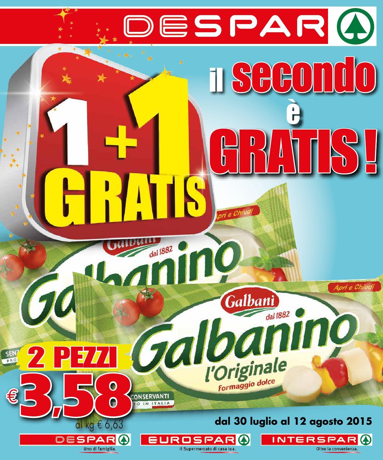 Volantino despar 30 luglio 12 agosto 2015 by despar for Bernava volantino messina